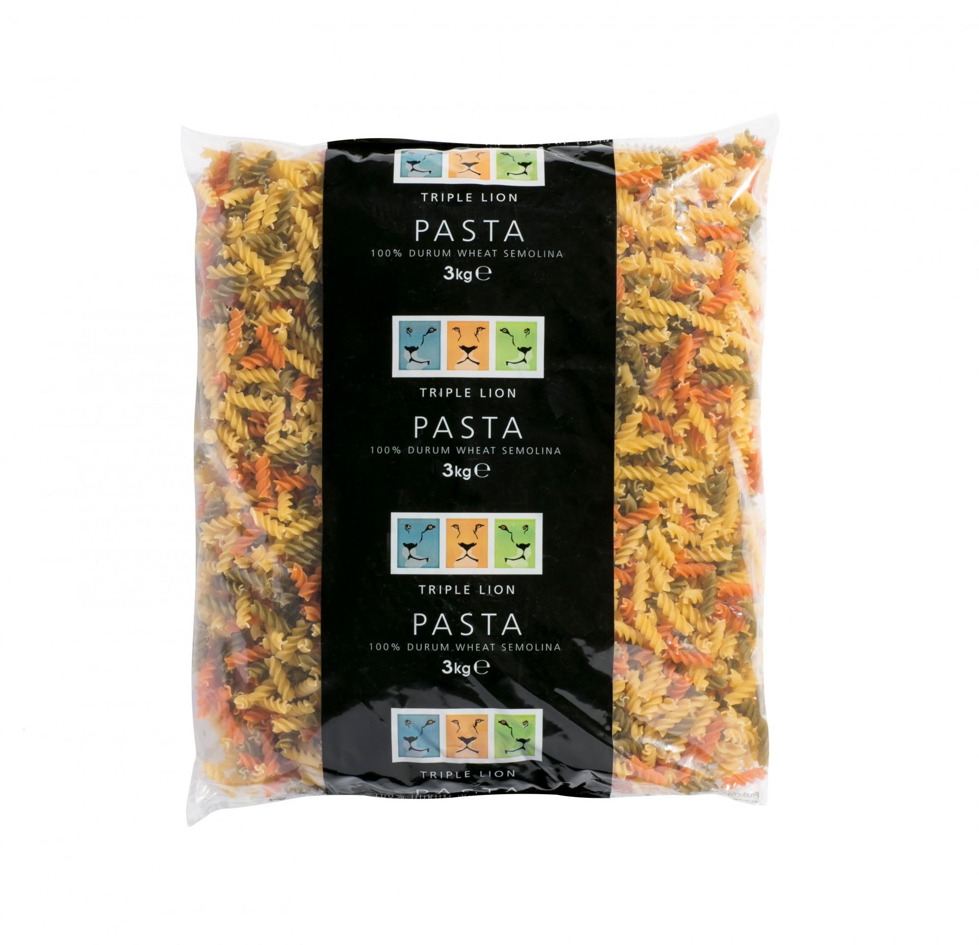 Tri Colour Pasta Twists (Fusilli)