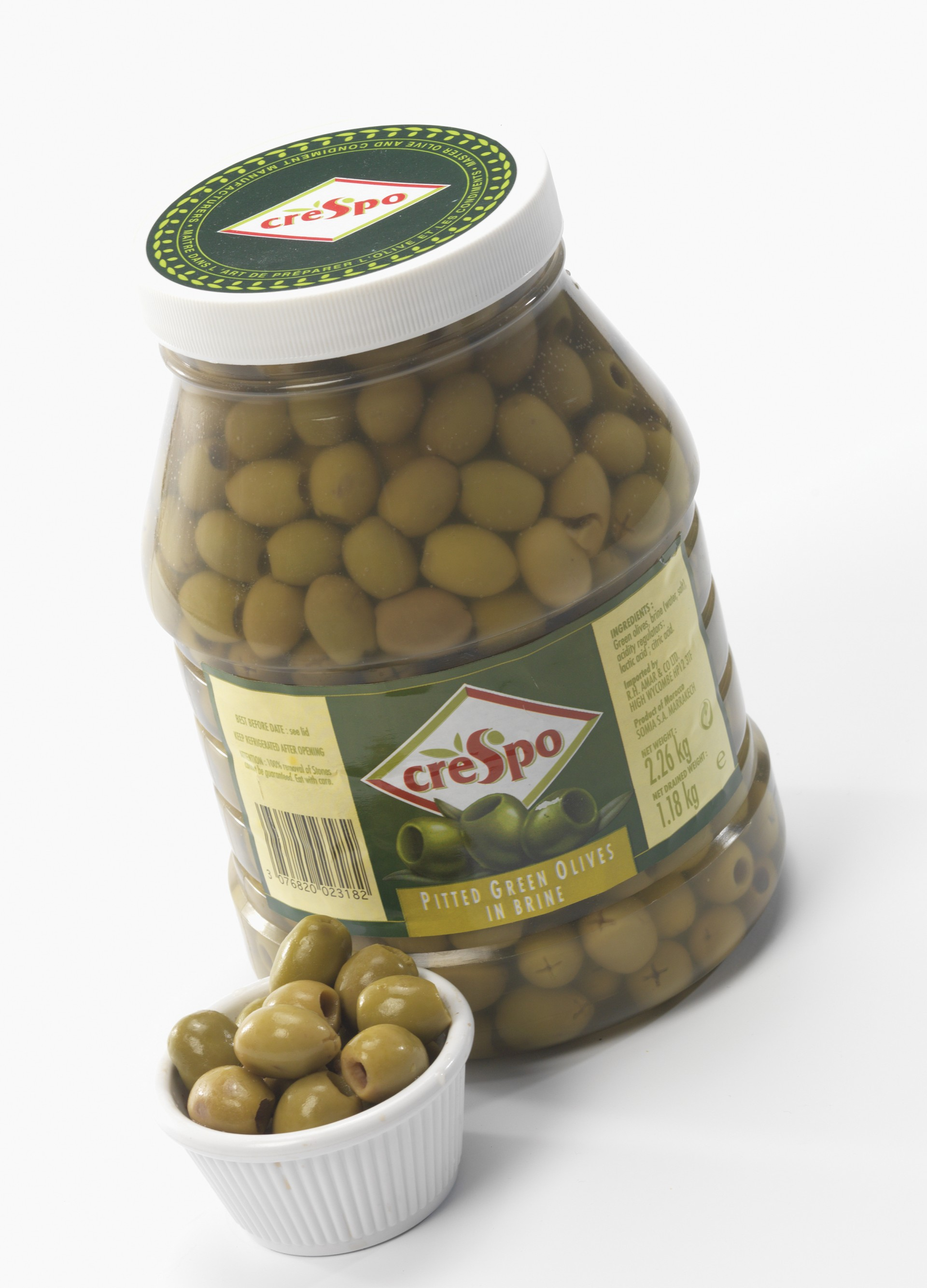Green Pitted Olives In Brine (Resealable)