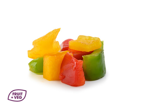 Prepared Diced 20mm Mixed Peppers (R,G,Y)