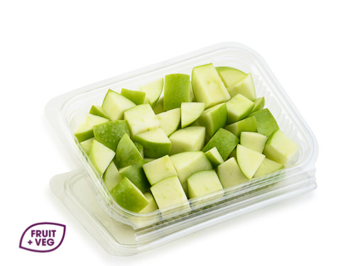 Diced Green Apple (Skin On)
