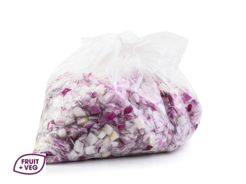 Prepared Diced Red Onion
