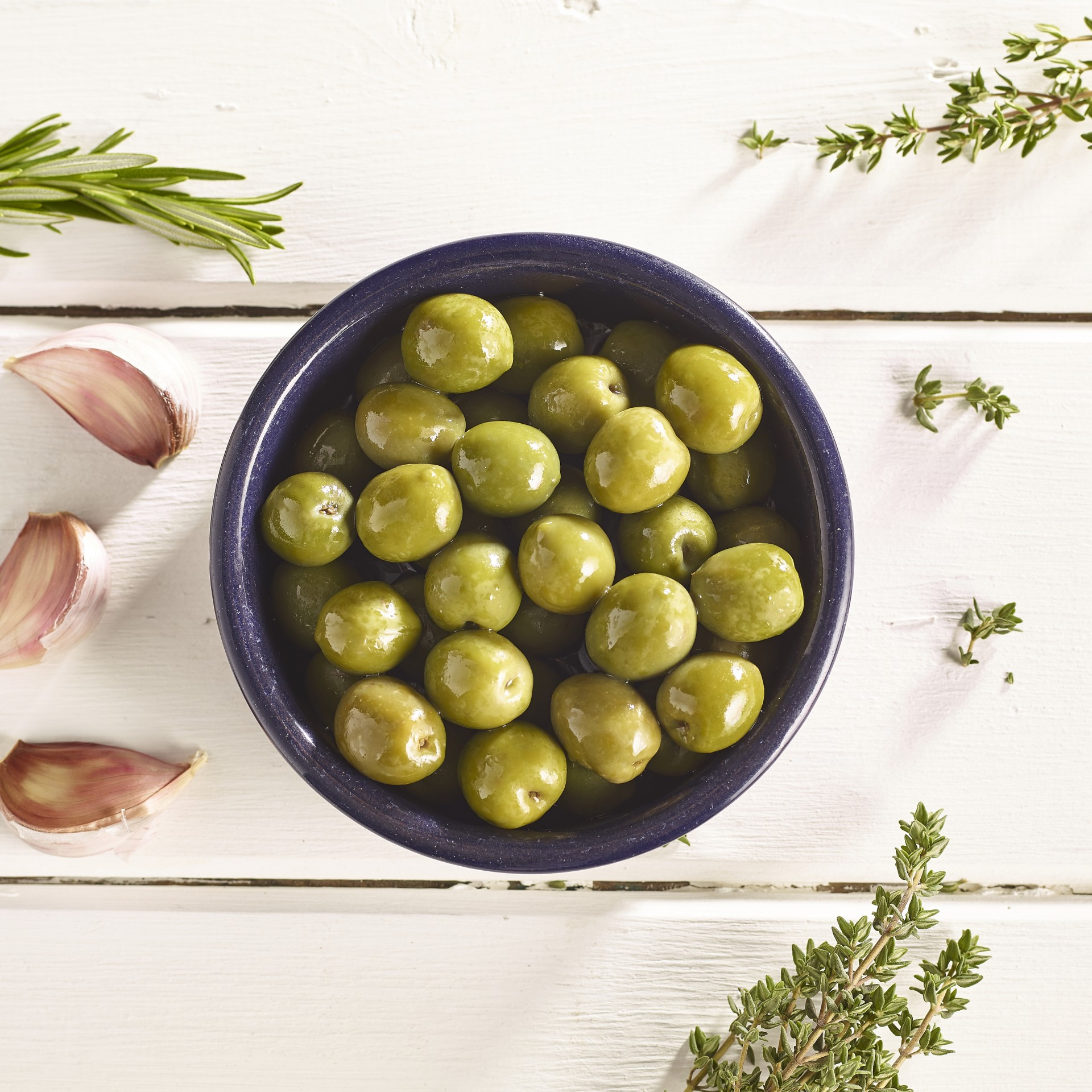 Unpitted Nocellara Olives in Oil
