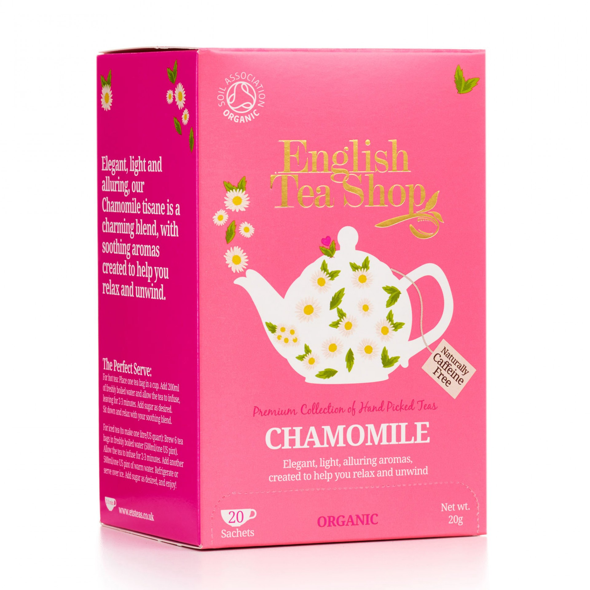 English Tea Shop - Chamomile Tag & Envelope Tea Bags