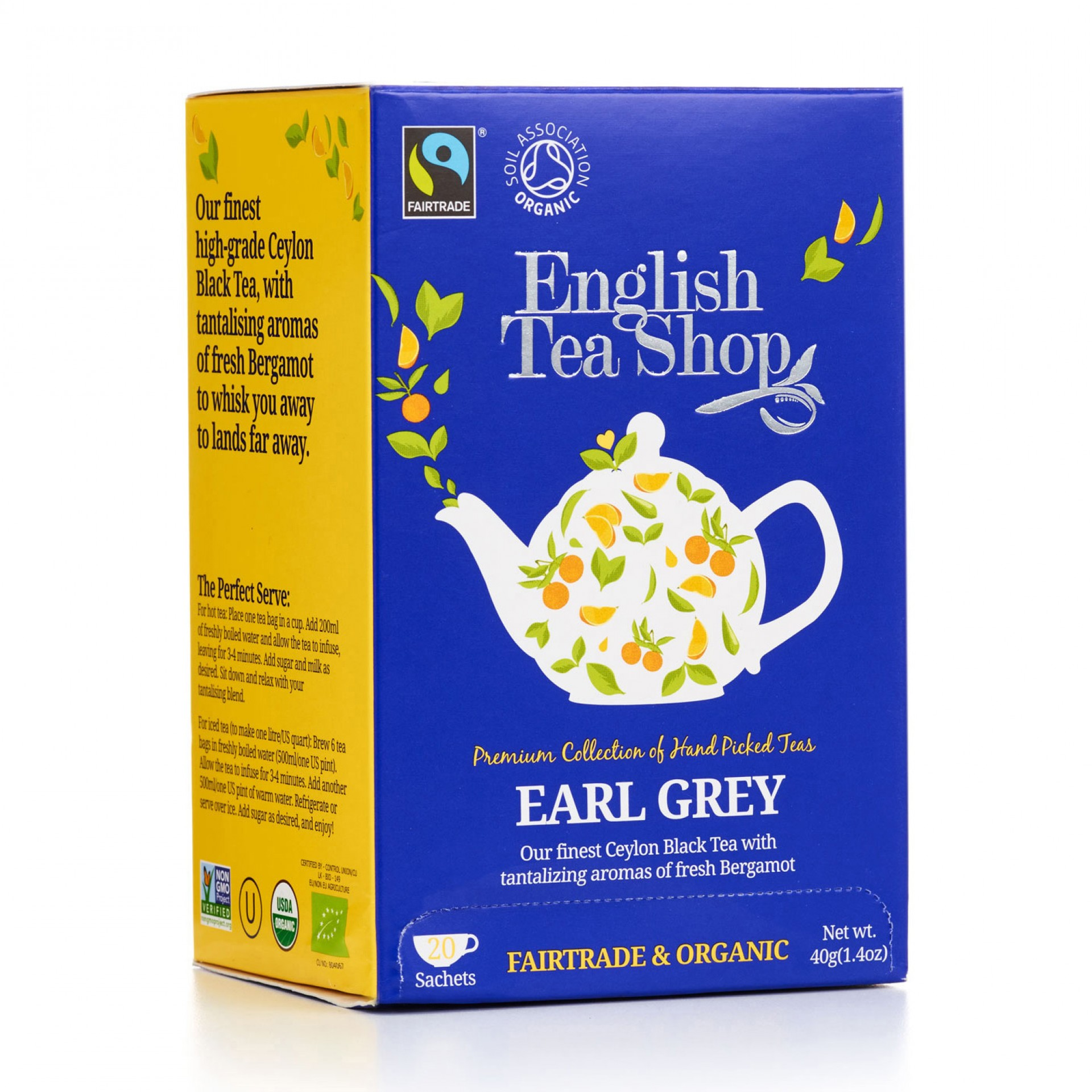 English Tea Shop - Earl Grey Tag & Envelope Tea Bags