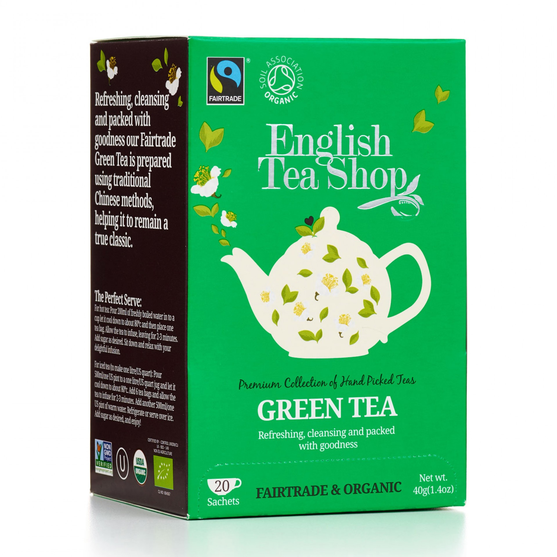 English Tea Shop - Green Tea Tag & Envelope Tea Bags
