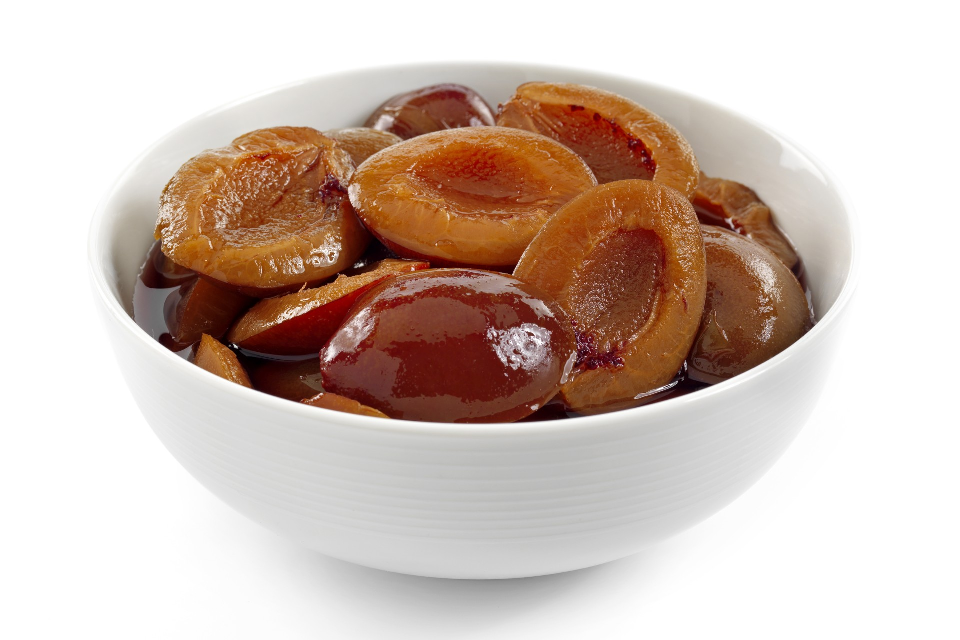 Plum Halves in Syrup